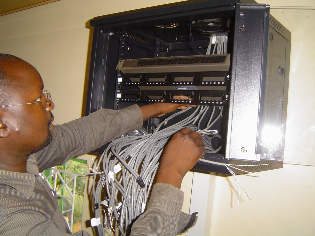 Working on the ethernet switch