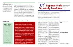 NYOF Spring Newsletter (PDF)