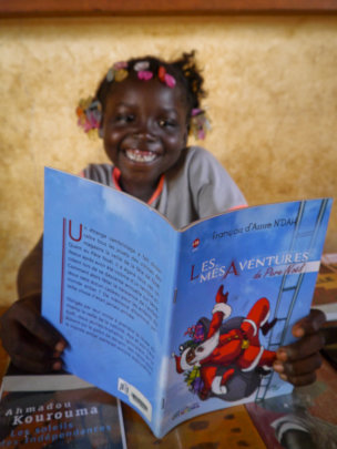 A reader in Niankorodougou library