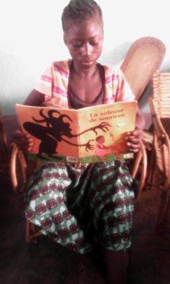 Young reader of Fatou Keita