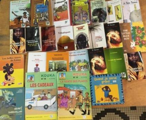 View of purchased books