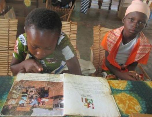 A guided reading session in Karaba library