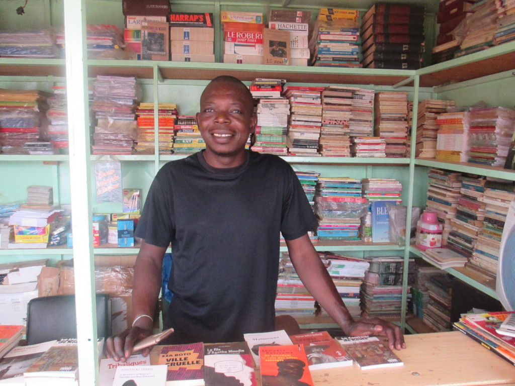 Tiaho at book kiosk