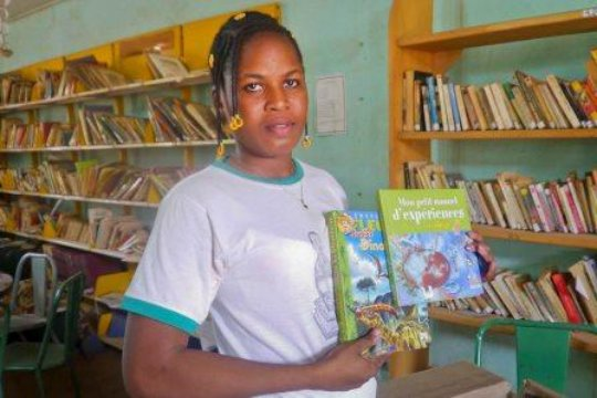 The librarian of Sabce with new books