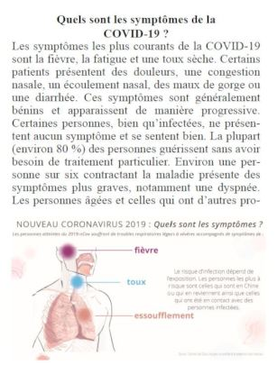 page from coronavirus booklet
