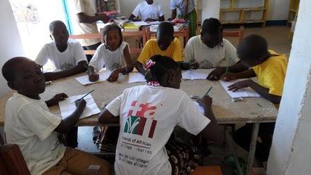 Reading camp in Sebba village, October, 2016