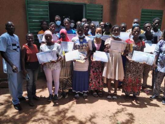 Readers in Kongoussi library received certificates