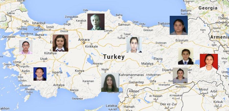 Map of Scholarship Recipients