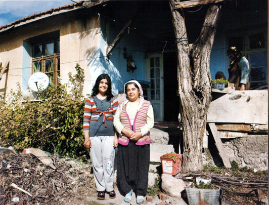 Kardelen and her mother, Sadiye