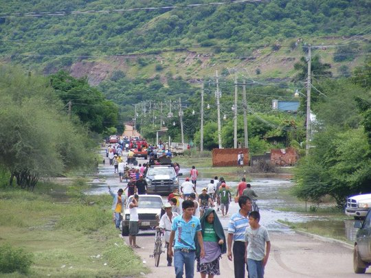 Flood victims looking for shelter