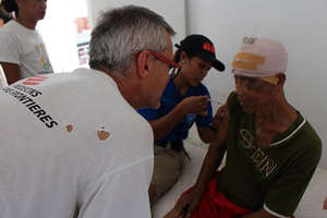 Doctors Without Borders provides medical care
