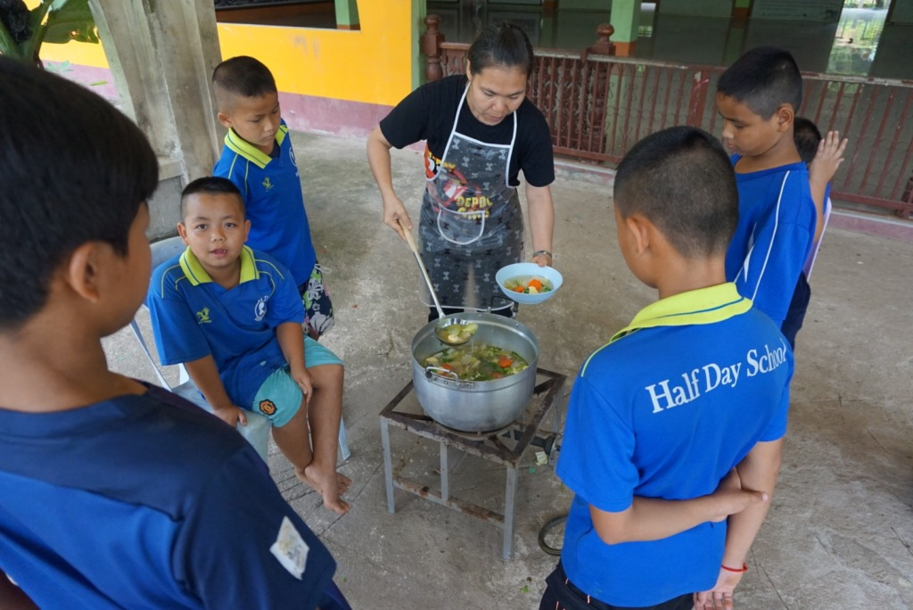 HDS Students during cooking class