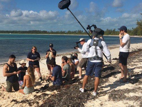 Behind the scenes look at video shoot