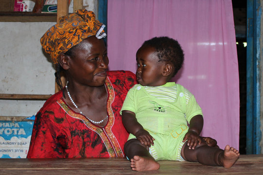 A mother and child from Uganda