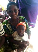 A mother and child enrolled in the program