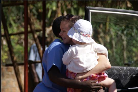 Natalie & her daughter on her last Shanti visit