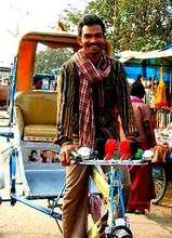Green Rider in Bodhgaya