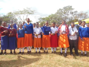Gongali students turning OFF Kerosene Lamps