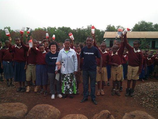 E3Empower Team with School Children in Gongali