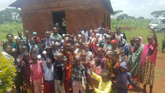 Second group that received lanterns in Tanzania