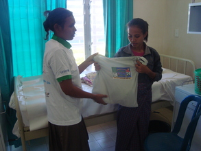Maternity pack distribution in referal hospital