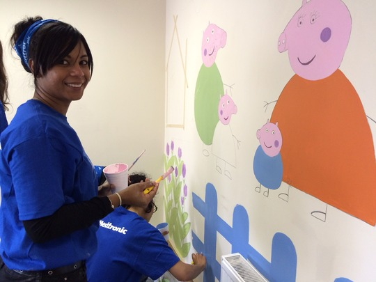 Medtronic Ireland painting our family room