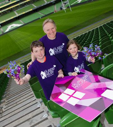 Irish Rugby Coach Joe Schmidt with Purple House