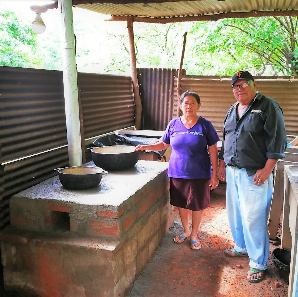 Luis & Petrona happy and proud of their new stove