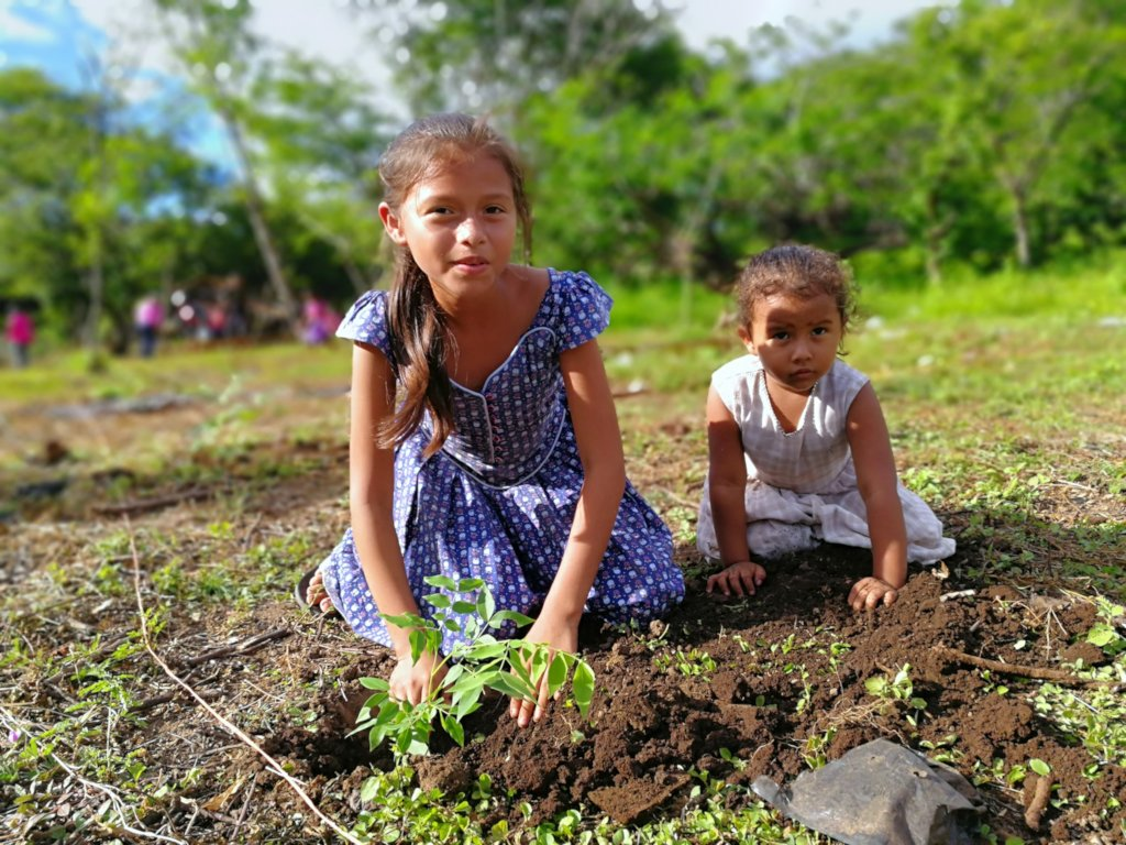 Nicaraguan children planting their future