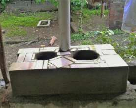Teacher Sayra's new stove