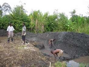 New pond for grandmother Matiki