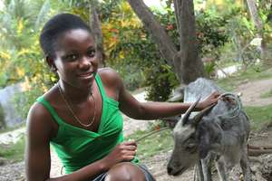 Dieunika and her goat