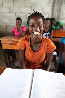 A young student in Haiti