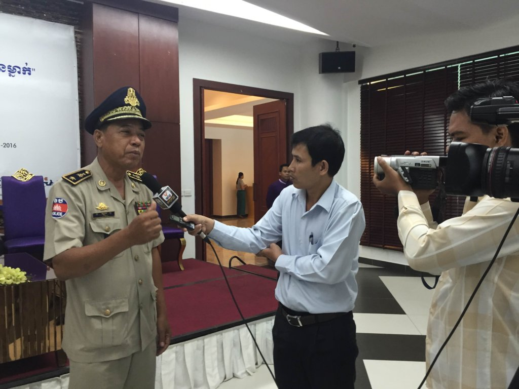 An official interviewed about helmet safety