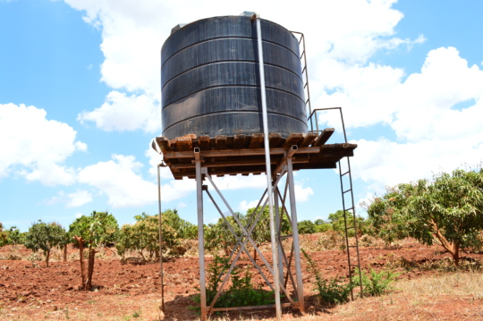 water tank being used to irrigate