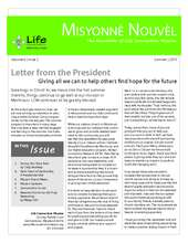 LCM Summer Newsletter with article about education (PDF)