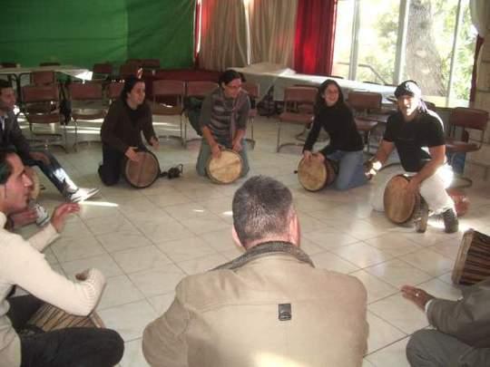 Drummers' circle