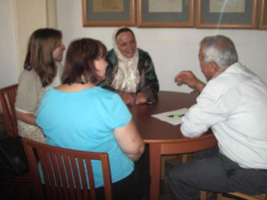 Conversation in a smalll group