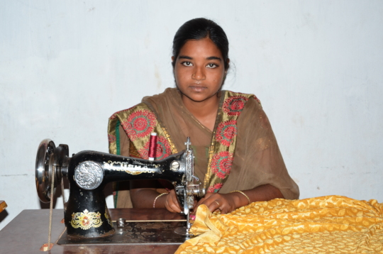 Donation of Sewing Machine to Poor girl by charity