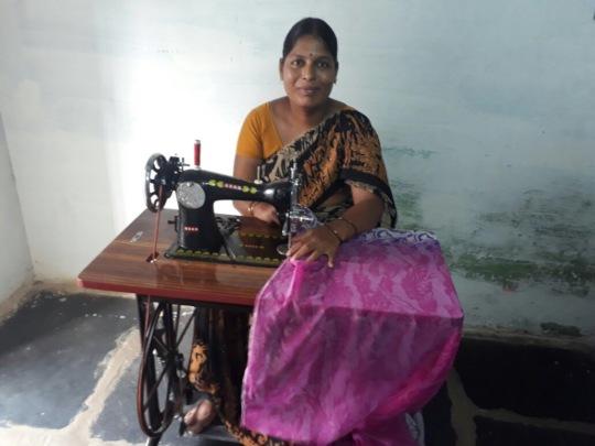 Economically disadvantaged woman empowering throug