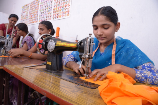 Empowerment of poor girl with skill training india
