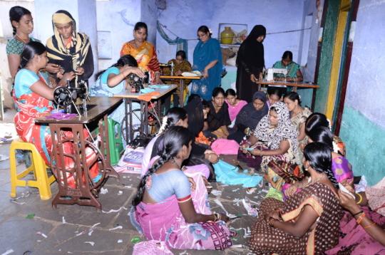 Fashion designing  zari skills training to poor wo