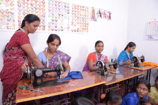 Livelihood sponsorship with fashion designing