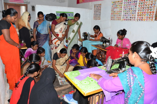 Skill Training to poor women for sustainable livel