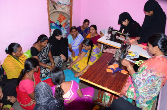 Tailoring skills training for poor women in india