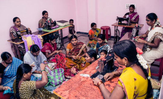 best charity in india giving training on tailoring