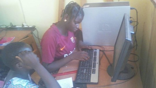Young women using computers 2