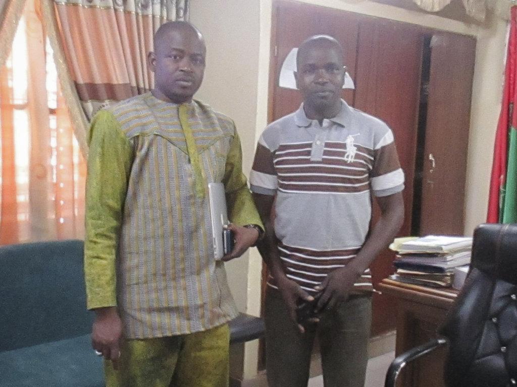 Mayor of Hounde with FAVL director Sanou Dounko