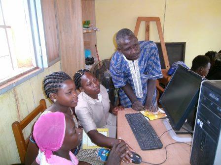Young women at the computer May 24 2019