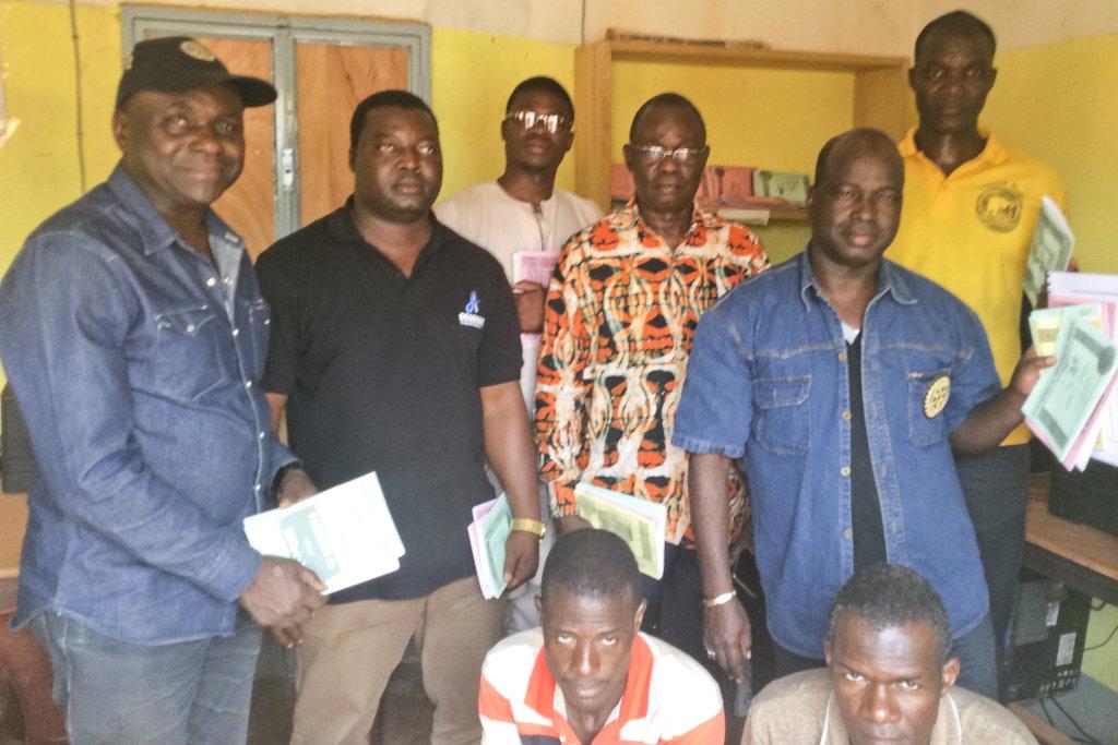 Members of Ouaga Savance Rotary club visit CMH